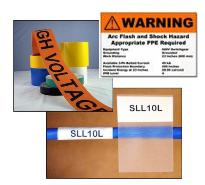 Electrical ID Warning Labels Wire Markers