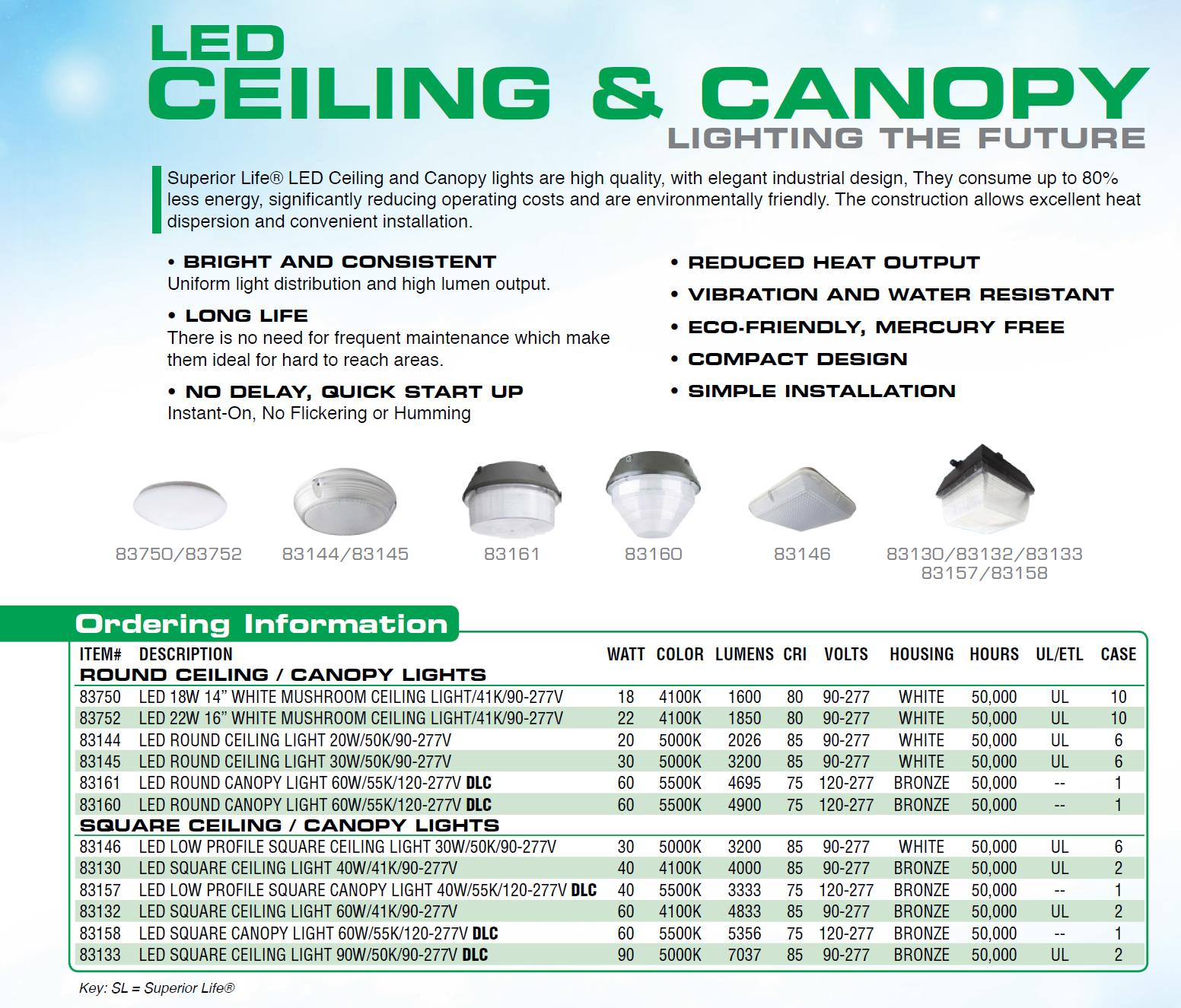 LED Ceiling Canopy Fixtures